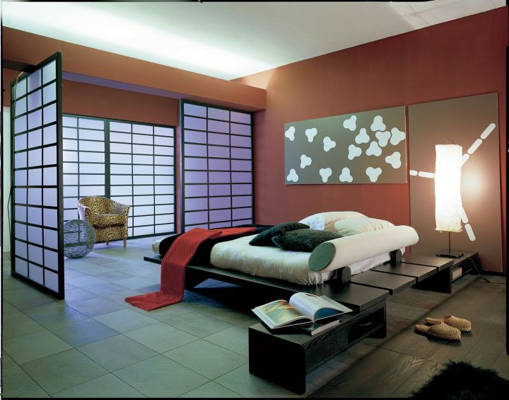 20 minimalists modern asian bedroom decor ideas 10123 | modern asian bedroom with red walls and asian door design x34469