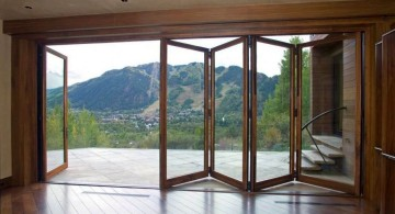 modern sliding glass door designs accordion style