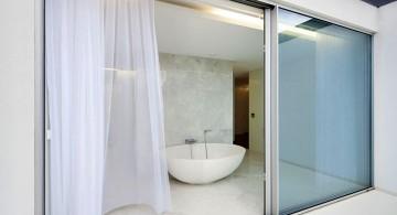 modern sliding glass door designs for the bathroom