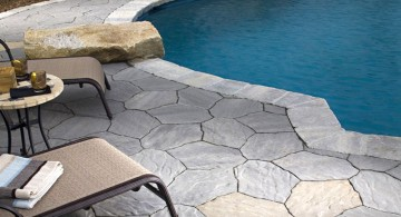 paved pool deck stone