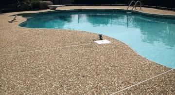 sand pattern pool deck stone