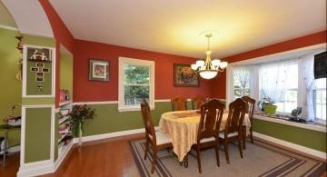separator bookshelves in dining room