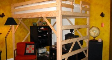 simple adult loft beds with desk
