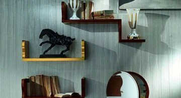 simple elegant wall shelves for small rooms