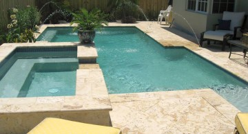 soft marble color pool deck stone