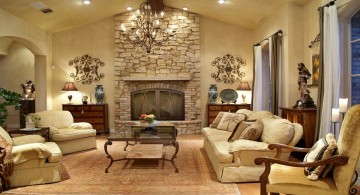 spacious and comfortable tuscan living room designs
