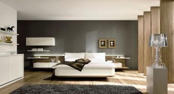 spacious cool modern bedrooms with wooden floor