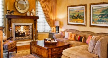 tuscan living room colors in soft beige and yellow hue
