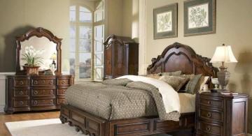 tuscany bedroom furniture in dark wood