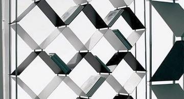 unique criss crossed modern elegant wall shelves
