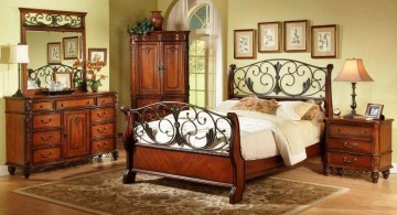 unique pattern tuscany bedroom furniture set