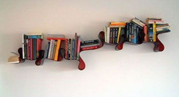 unique shaped elegant wall shelves