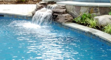 waterfalls for pools inground with jacuzzi