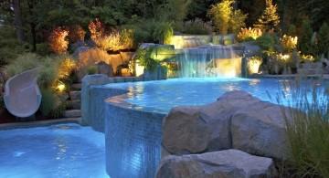 waterfalls for pools inground with vanishing edge
