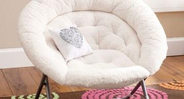 white papasan round reading chair