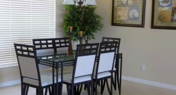 zen dining rooms in black and white