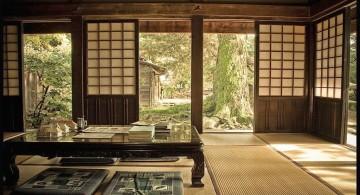 zen dining rooms outlooking the garden