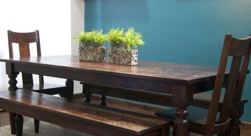 zen dining rooms with long benches